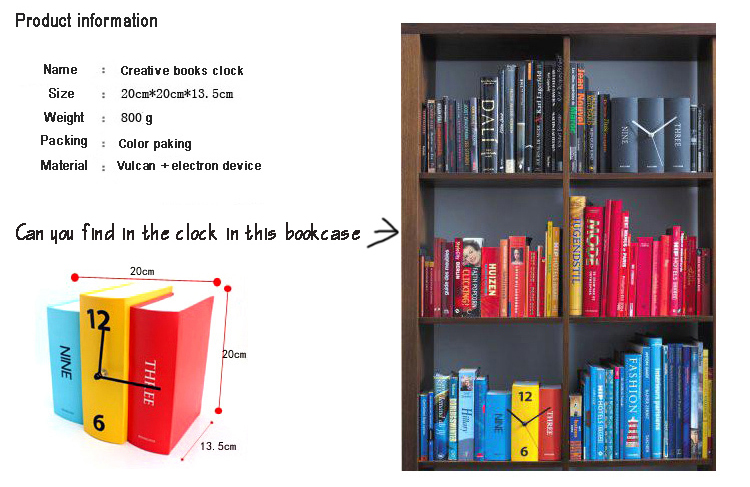 creative-books-clock