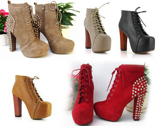 Boots-punk-high-heeled-thick-heel-square-toe-platform