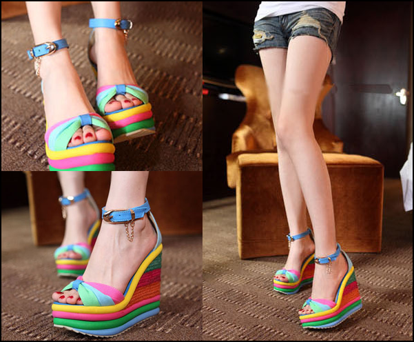 Summer-rainbow-shoes-sandals-bohemia-platform-shoes-open-toe-sandals-high-heeled-shoes