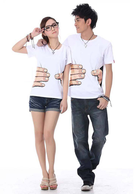 Popular-Printed-Big-hand-white-T-shirt