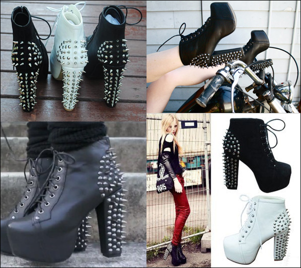 Boots-punk-high-heeled-thick-heel-square-toe-platform-shoes