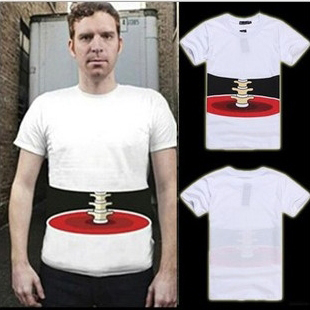 Men-s-3D-Effect-Print-T-shirt-skelet