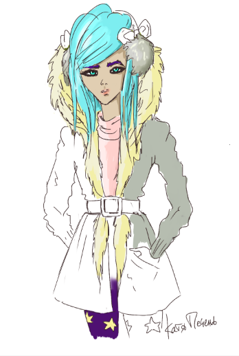 turquoise-hair-girl-picture-sketch