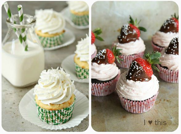 Cupcakes-foto-keks-strawberry-vanilla